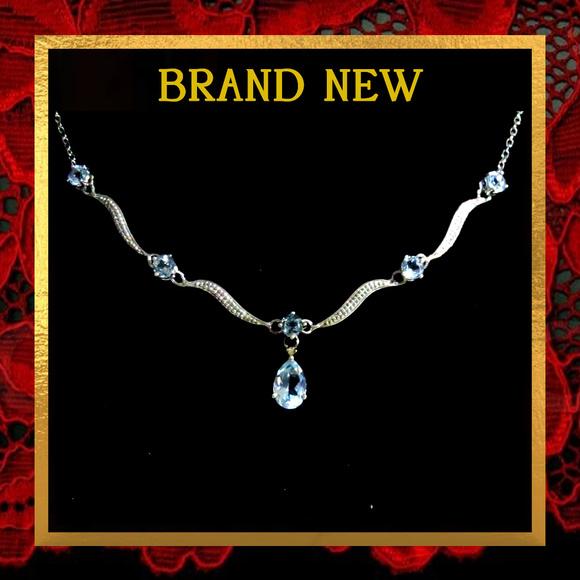 Jewelry - Aquamarine Gemstone Silver Necklace #015